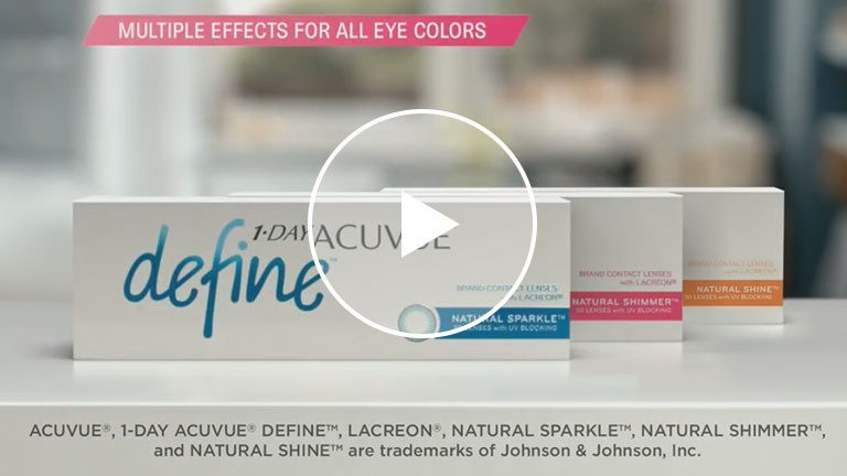 1-DAY ACUVUE DEFINE Brand Contact Lens Design