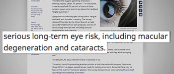 Almost Three Quarters of Adults Report Digital Eye Strain