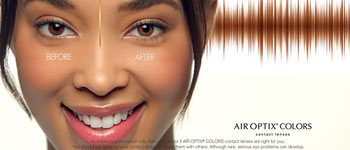 Enhance Your Eye Color with AIR OPTIX COLORS contact lenses