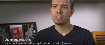 James Moore - contact lens wearer